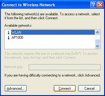 6. Select an available network and click Connect button. 7.