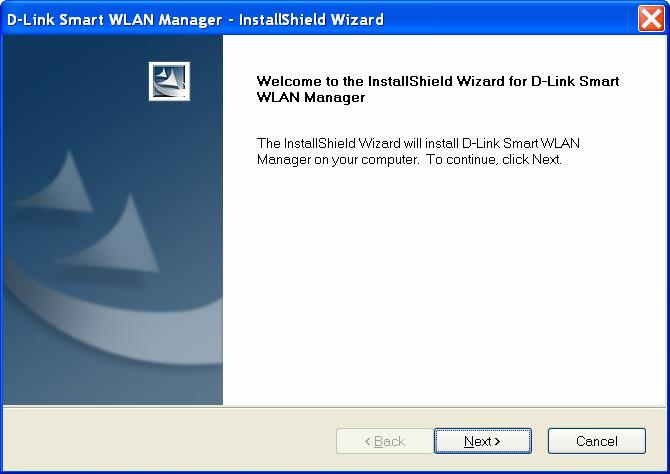 Installing the Smart WLAN Manager Please do following steps to install the Smart WLAN Manager: Step 1.