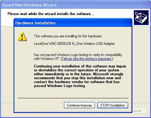 Figure: Install the software automatically 12.