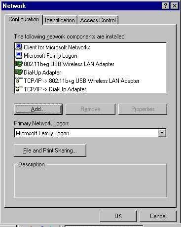 NETWORK CONNECTION Once the device driver is well installed, a network setting
