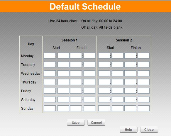 Advanced Features Define Schedule The schedule can be used for the Access Control and URL Filter features. Figure 32.