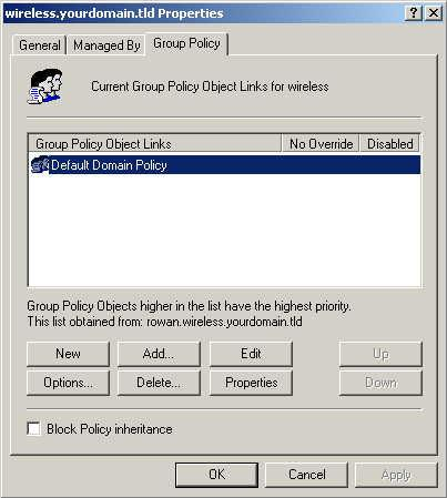 Figure 36: Group Policy Tab 7.
