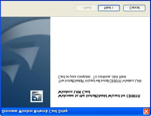 Chapter 2 Initial Installation 2 This Chapter covers the software installation of the Wireless Adapter. Requirements Windows 98, ME, 2000, or XP.