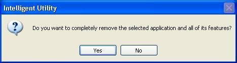 2. Click Yes to completely remove the selected application and all