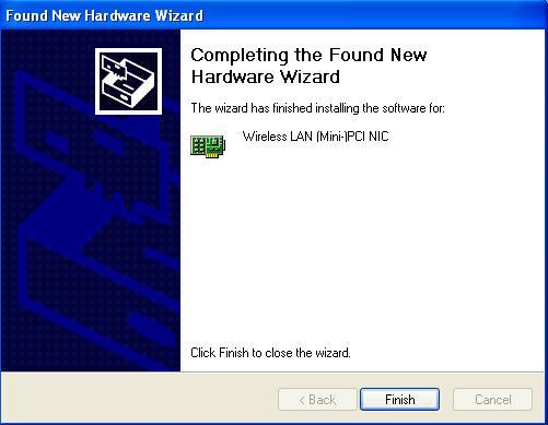 The Found New Hardware Wizard dialog box appears.